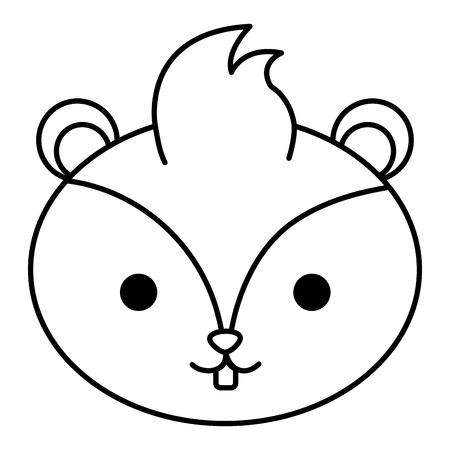 Una cabeza de ardilla linda ilustración vectorial de diseño Foto de archivo - 98033516