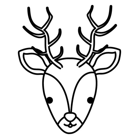 A cute reindeer head vector illustration design