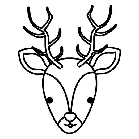 A cute reindeer head vector illustration design