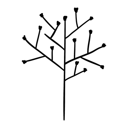 tree branch with seeds vector illustration design 向量圖像