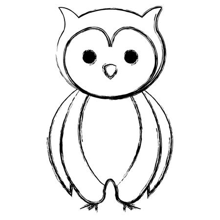 cute and tender owl vector illustration design