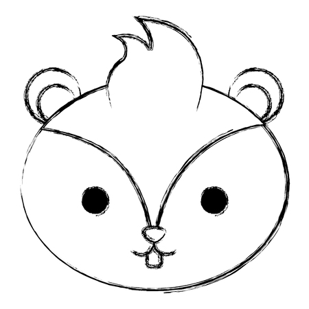 cute and tender chipmunk head vector illustration design Foto de archivo - 97893811