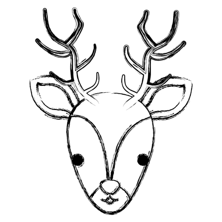 cute and tender reindeer head vector illustration design Ilustrace