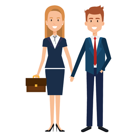 business couple avatars characters vector illustration design Stock Vector - 97893706