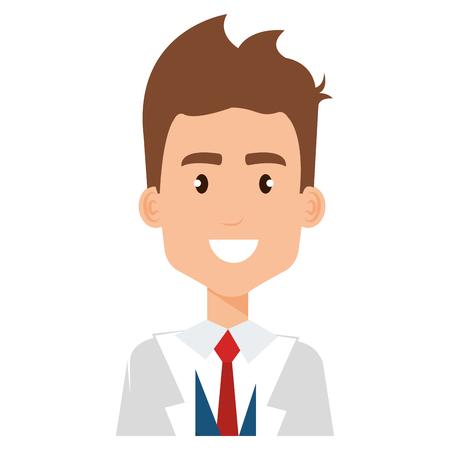 doctor professional avatar character vector illustration design