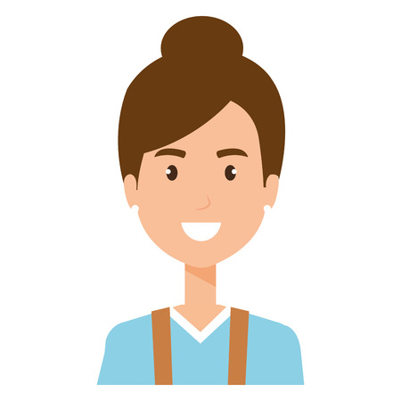 woman gardener avatar character vector illustration design