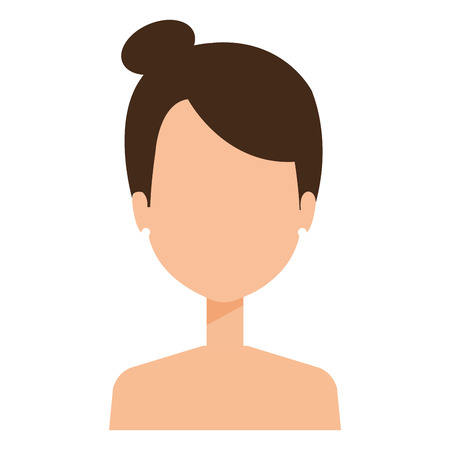 beautiful woman shirtless avatar character vector illustration design Illustration