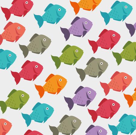 Sea food gastronomy graphic design, vector illustration. Ilustracja