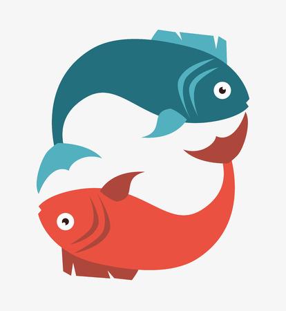 Sea food gastronomy graphic design, vector illustration.  イラスト・ベクター素材