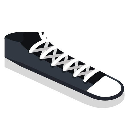shoe style young icon vector illustration design