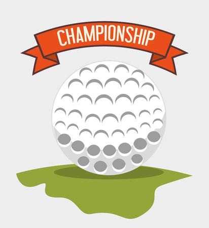 Golfclub Sport Spiel Grafikdesign Standard-Bild - 101043450