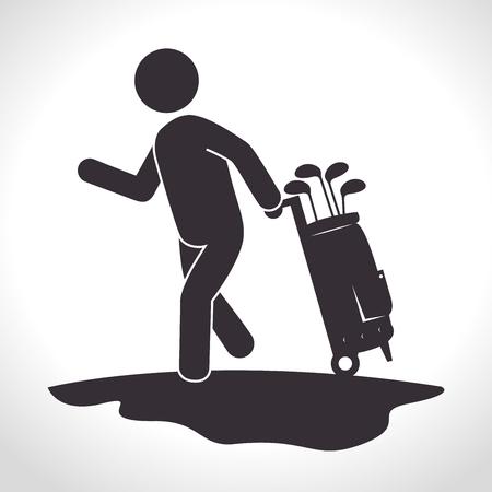 Golf club sport game graphic design