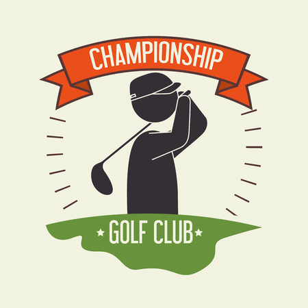 Golf club sport game graphic design
