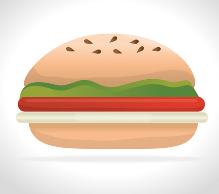 Sandwich food lunch graphic design on white background.