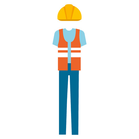 builder clothes accessory icon vector illustration design Stock Vector - 98047948