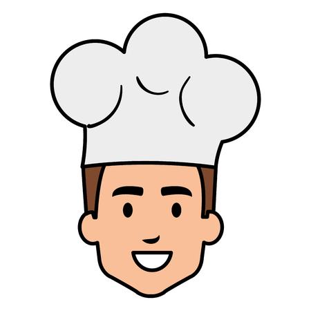 restaurant chef head avatar character vector illustration design