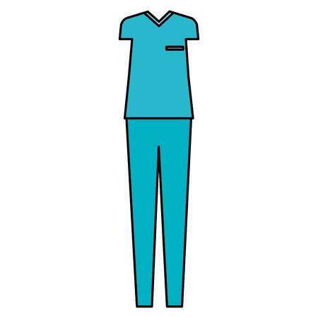 surgeon custome accessory icons vector illustration design