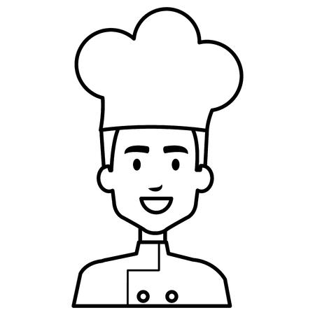 restauracja szef kuchni avatar postać wektor ilustracja projekt