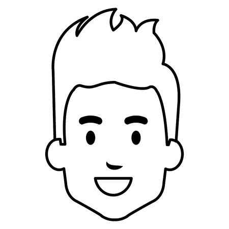 Young man head avatar