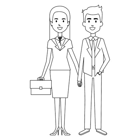 business couple avatars characters vector illustration design Stock Vector - 98052887