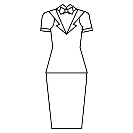 waiter female clothes icon vector illustration design Illustration