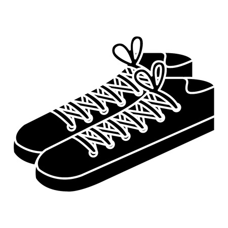 shoes style young icon vector illustration design Stok Fotoğraf - 98053236