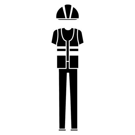 builder clothes accessory icon vector illustration design