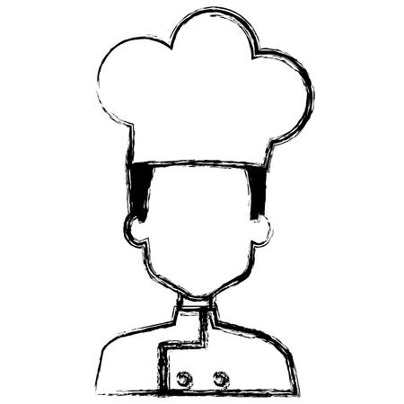 restaurant chef avatar character vector illustration design