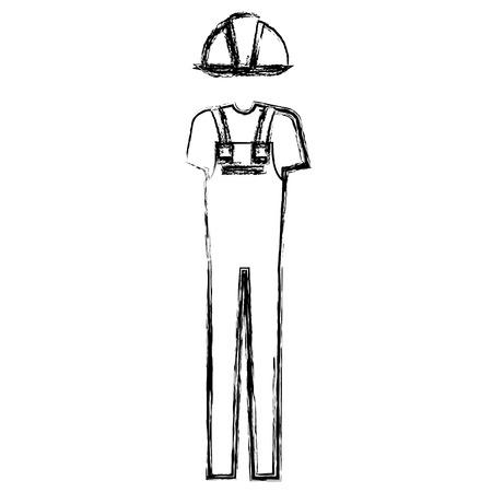 Ropa del mecánico del icono del accesorio ilustración vectorial de diseño Foto de archivo - 98049576