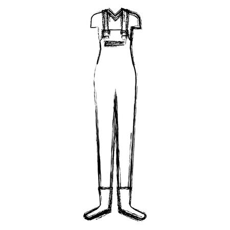 gardener female clothes icon vector illustration design Ilustrace