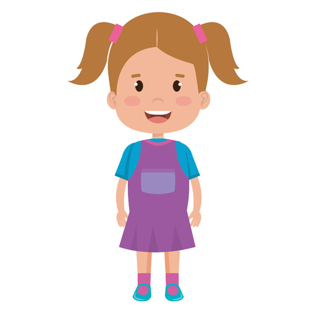 little girl avatar character vector illustration design Stock Photo