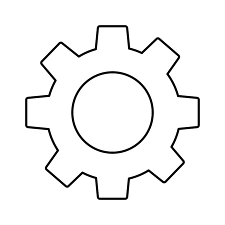 gear cogwheel business team work symbol vector illustration outline design 向量圖像