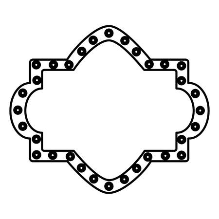 カーニバルボードライト装飾空のベクトルイラストアウトラインデザイン