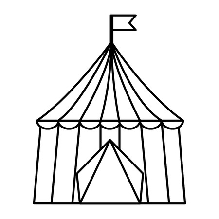 carnival circus tent flag striped image vector illustration outline design 免版税图像 - 98085024