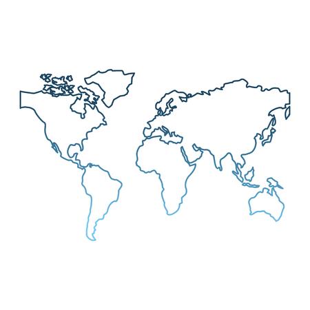 ワールドマップ大陸グローバル画像ベクトルイラストグラデーション青色