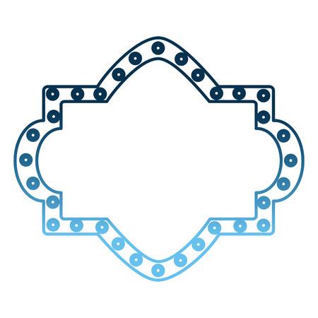 カーニバルボードライト装飾空のベクトルイラストグラデーション青い色