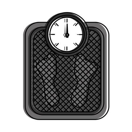 fitness weight scale measuring loss image vector illustration Ilustracja