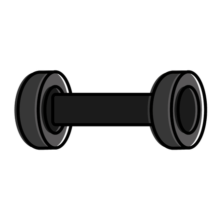 sport gym weight barbell icon vector illustration