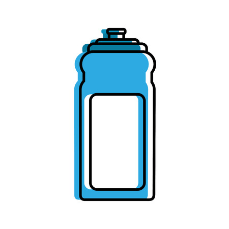 sport bottle water hydration healthy lifestyle vector illustration