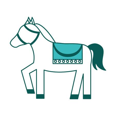 horse circus animal show presentation vector illustration green image