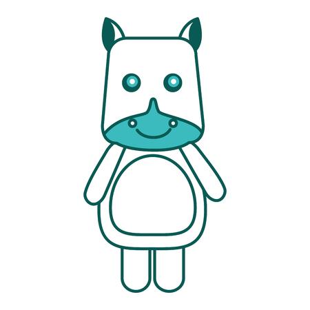 cute hippo toy animal image vector illustration green image Illustration
