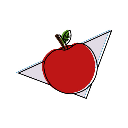 apple fruit nutrition diet fresh healthy lifestyle vector illustration outline design