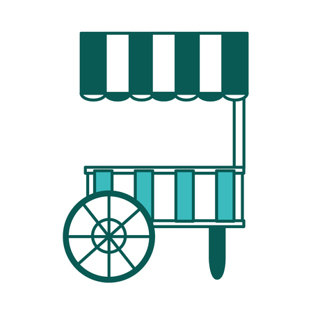 empty cart food carnival circus icon vector illustration green image