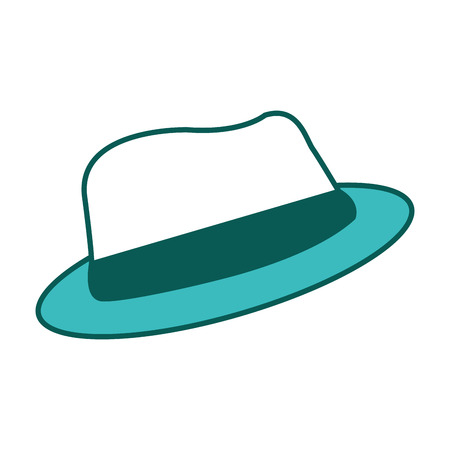 classic hat accessory fashion vintage image vector illustration green image