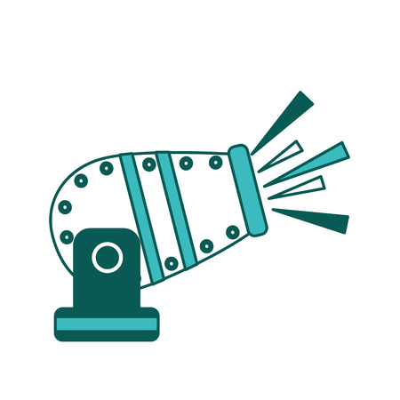 circus carnival fun fair cannon image vector illustration green image  イラスト・ベクター素材
