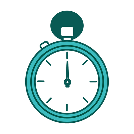 chronometer timer sport counter image vector illustration green image Illustration
