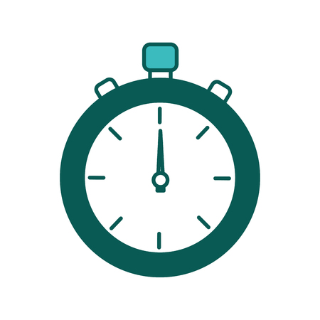 stopwatch fitness sport time measure image vector illustration green image Ilustrace