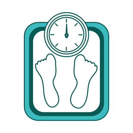 fitness weight scale measuring loss image vector illustration green image