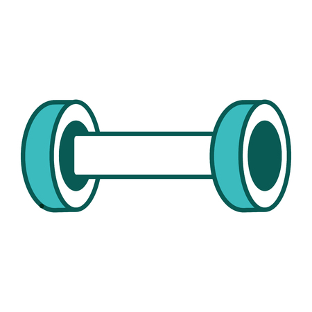 sport gym weight barbell icon vector illustration green image