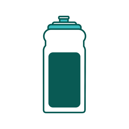 sport bottle water hydration healthy lifestyle vector illustration green image